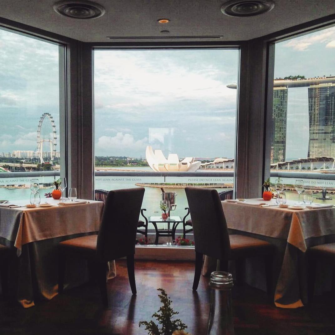 俯视滨海湾堤坝-最佳新加坡餐厅