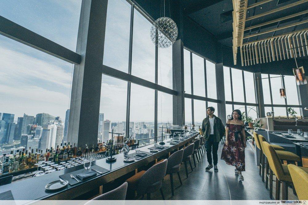 SKAI 的落地窗-最佳新加坡餐厅