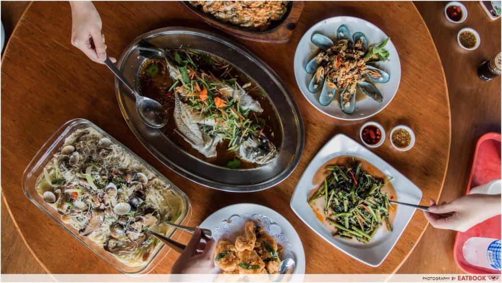 水上餐厅的海鲜-新加坡餐厅