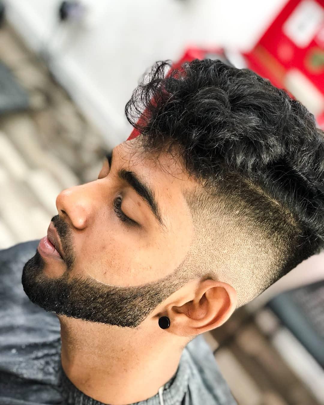 卷式铲青-男士发型
