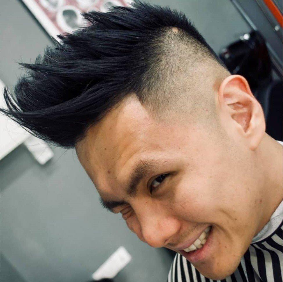锋利飞机头-男士发型