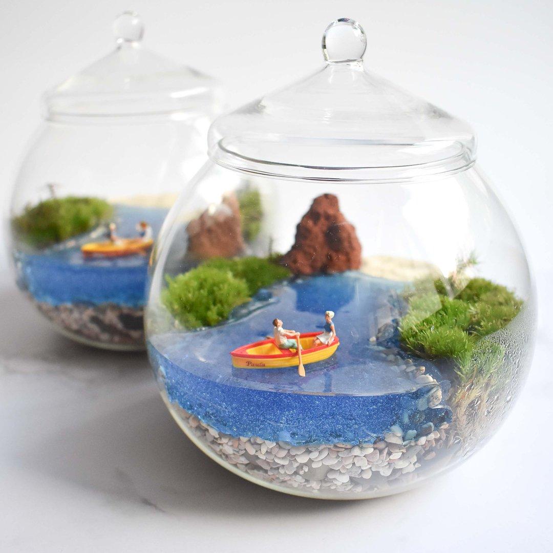 DIY 微型玻璃缸花园