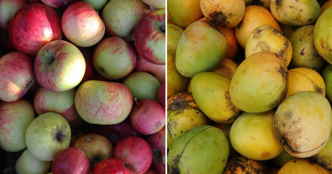 避免长斑点的水果