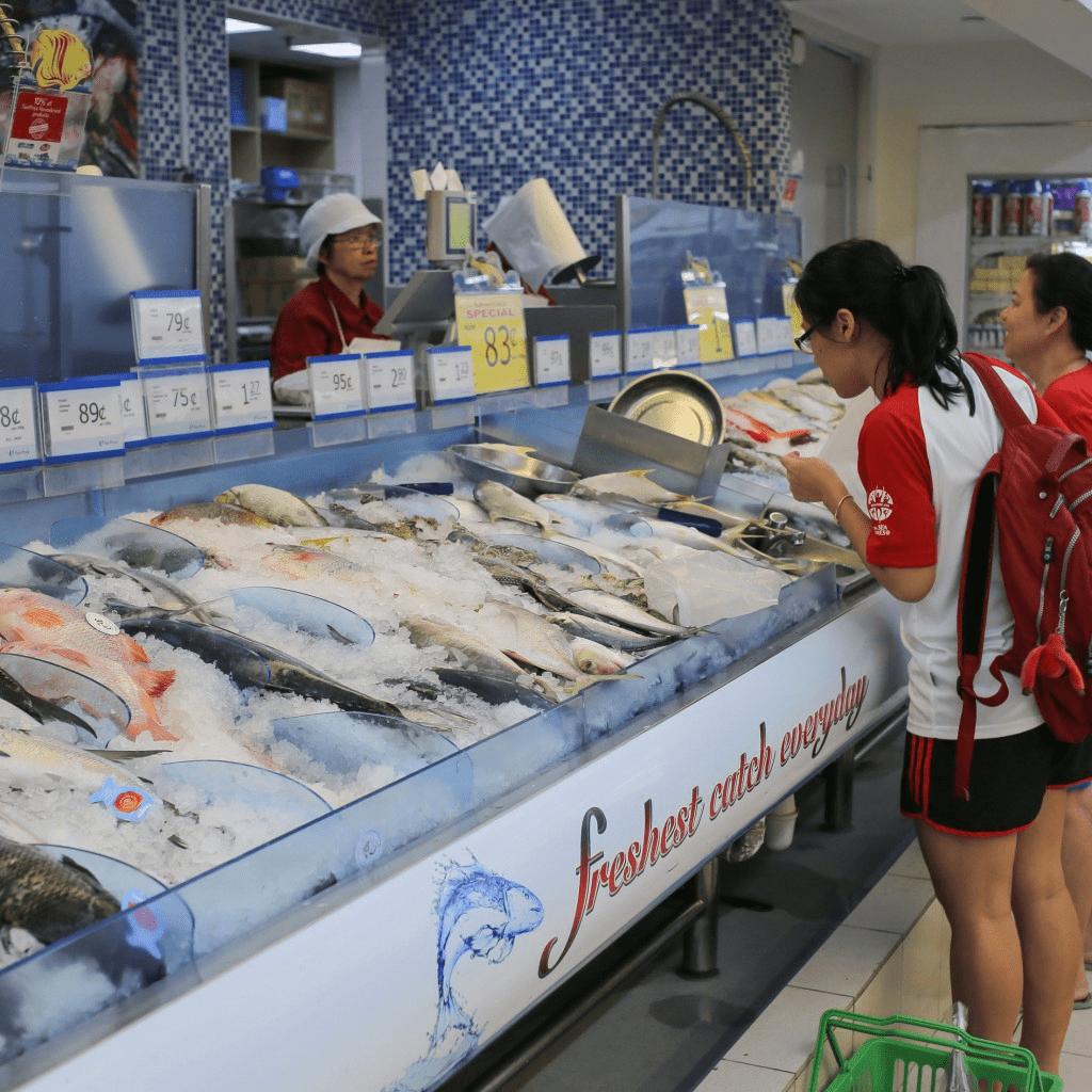 跳过冷冻鱼 - 超市购物错误